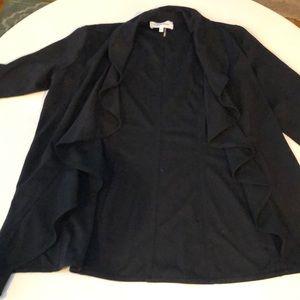 Calvin Klein ruffle front blazer size 4